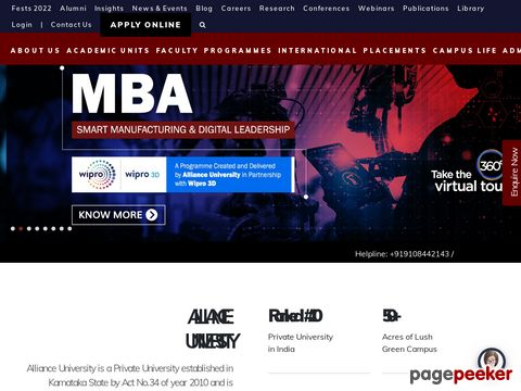alliance.edu.in